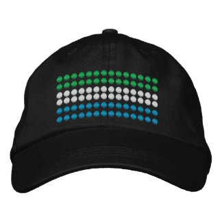 Sierra Leone Flaag Embroidered Hat