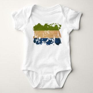 Sierra Leone Flag Baby Bodysuit