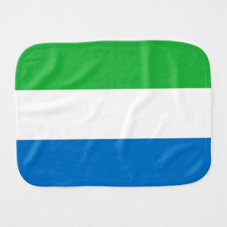 Sierra Leone Flag Baby Burp Cloths