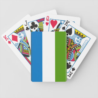 Sierra Leone Flag Bicycle Playing Cards