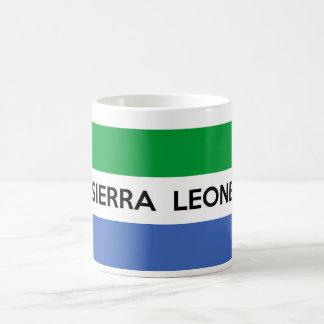 sierra leone flag country text name coffee mug