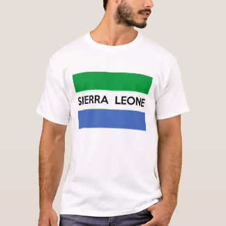 sierra leone flag country text name T-Shirt