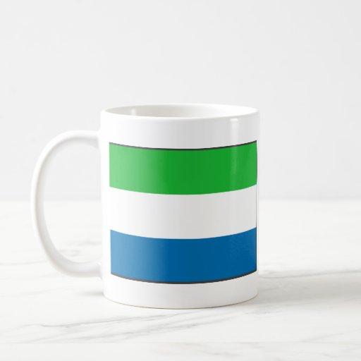 Sierra Leone Flag ~ Map Mug