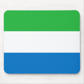 Sierra Leone Flag Mouse Pad