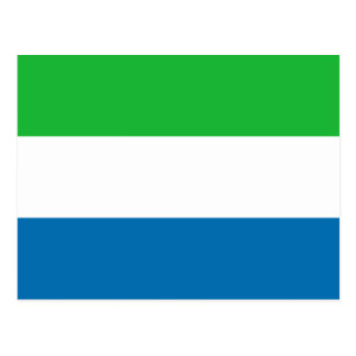 Sierra Leone Flag Postcard