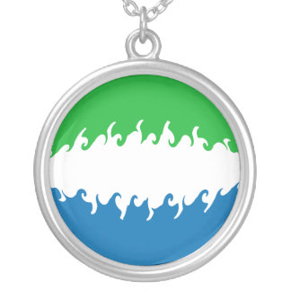 Sierra Leone Gnarly Flag Custom Necklace