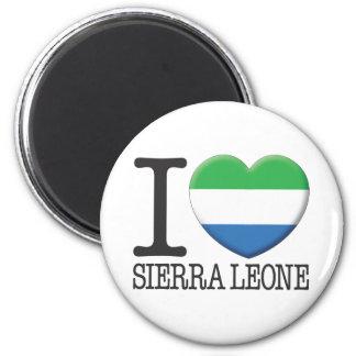 Sierra Leone 2 Inch Round Magnet