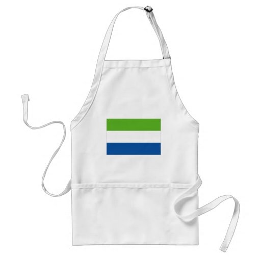 Sierra Leone National Flag Aprons