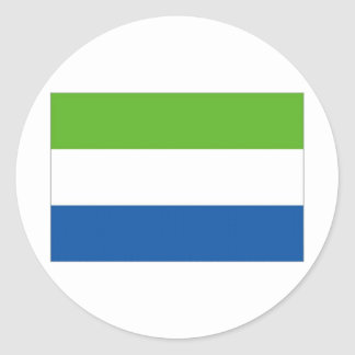 Sierra Leone National Flag Classic Round Sticker