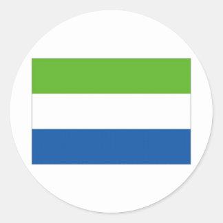 Sierra Leone National Flag Round Sticker