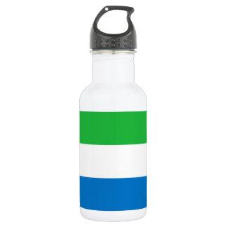 Sierra Leone National World Flag 532 Ml Water Bottle