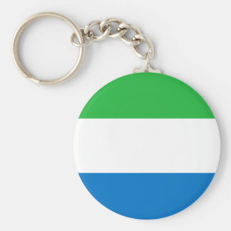 Sierra Leone National World Flag Keychain