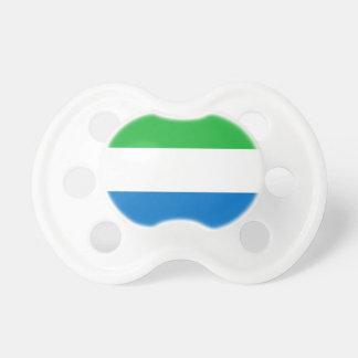 Sierra Leone National World Flag Pacifier