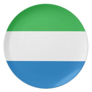 Sierra Leone National World Flag Plates