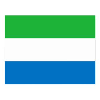Sierra Leone National World Flag Postcard