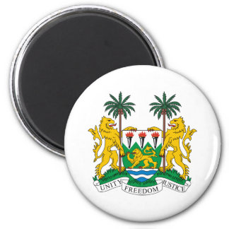 Sierra Leone Official Coat Of Arms Heraldry Symbol 2 Inch Round Magnet
