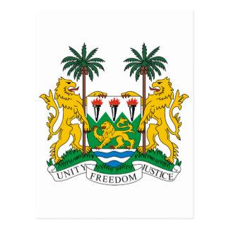 Sierra Leone Official Coat Of Arms Heraldry Symbol Postcard
