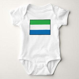 Sierra Leone Plain Flag Baby Bodysuit