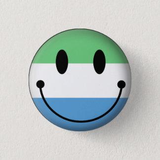Sierra Leone Smiley 1 Inch Round Button