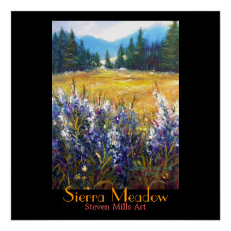 Sierra Meadow Poster