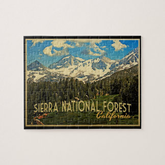 Sierra National Forest California Jigsaw Puzzle