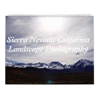 Sierra Nevada California Landscape Photography Calendar