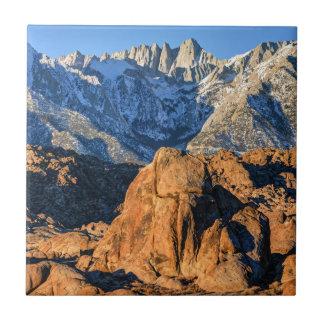 Sierra Nevada Mountains And Alabama Hills Sunrise Ceramic Tiles