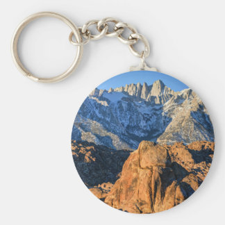 Sierra Nevada Mountains And Alabama Hills Sunrise Keychain