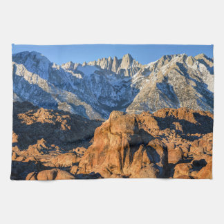 Sierra Nevada Mountains And Alabama Hills Sunrise Towels