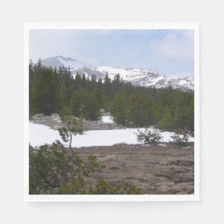 Sierra Nevada Mountains and Snow at Yosemite Disposable Napkins