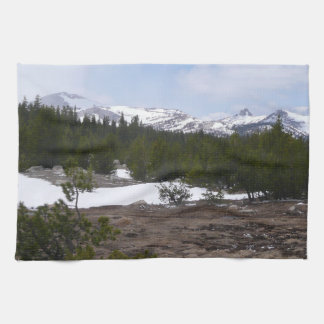 Sierra Nevada Mountains and Snow at Yosemite Hand Towels