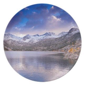 Sierra Nevada Mountains, Autumn, CA Party Plates