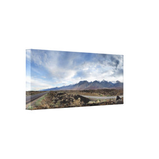 Sierra Nevada Mountains from Owens Valley Canvas Print