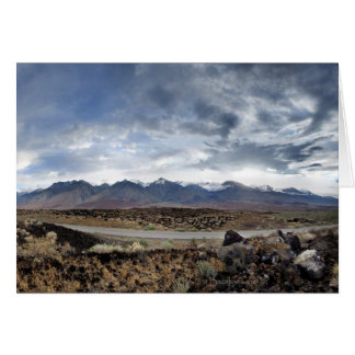 Sierra Nevada Mountains from Owens Valley Card