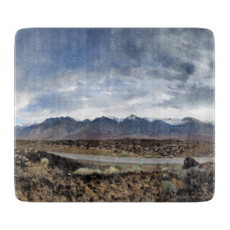 Sierra Nevada Mountains from Owens Valley Cutting Board