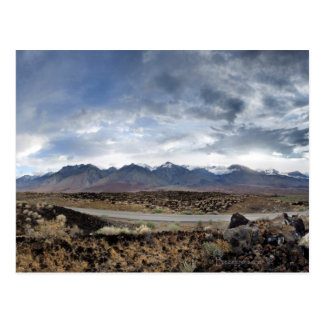 Sierra Nevada Mountains from Owens Valley Postcard