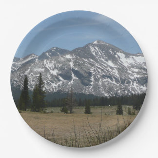 Sierra Nevada Mountains I from Yosemite 9 Inch Paper Plate
