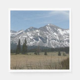 Sierra Nevada Mountains I from Yosemite Disposable Napkin