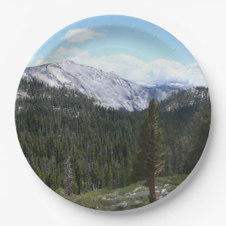 Sierra Nevada Mountains II from Yosemite 9 Inch Paper Plate