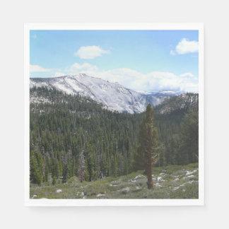 Sierra Nevada Mountains II from Yosemite Napkin