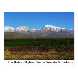 Sierra Nevada near Bishop, CA postcard