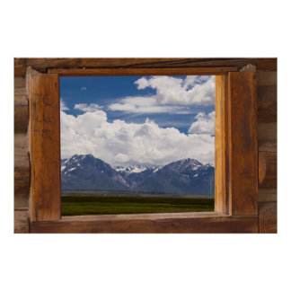 Sierra Nevada Through Cabin Window Poster