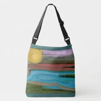 Sierra Sunrise Abstract Art Crossbody Bag