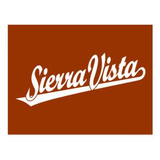 Sierra Vista script logo in white Postcard