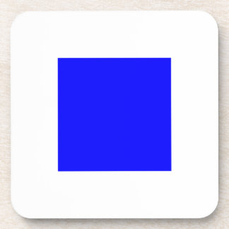 SIERRA White with Blue Square Beverage Coasters