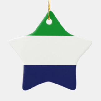 Sierraleoa flag ceramic star ornament