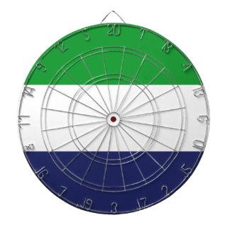 Sierraleoa flag dartboard