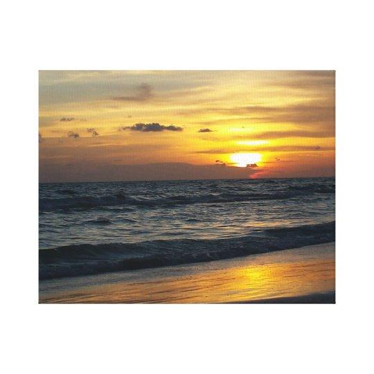 Siesta Beach Sunset Canvas Print