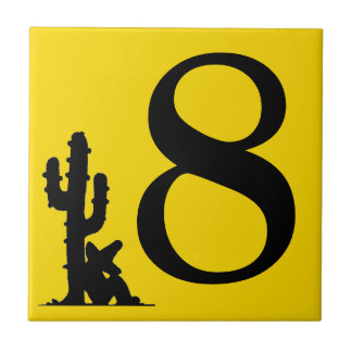 Siesta by cactus Yellow Hot Number 8 eight tile