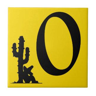 Siesta Cactus Sun Yellow Number 0 zero tile